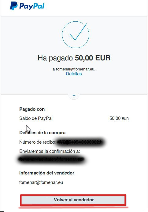 Paypal go back to Fomenar