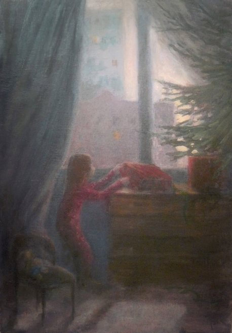Morning Christmas. Oil, canvas 40ч50