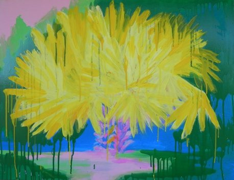 """Yellow palms"", acrylic on canvas, 90х70"